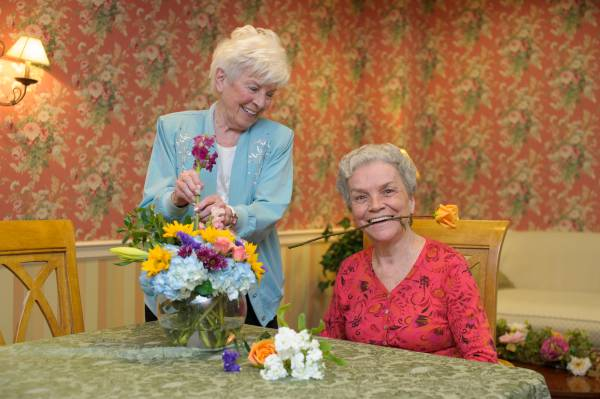 assisted living smiling
