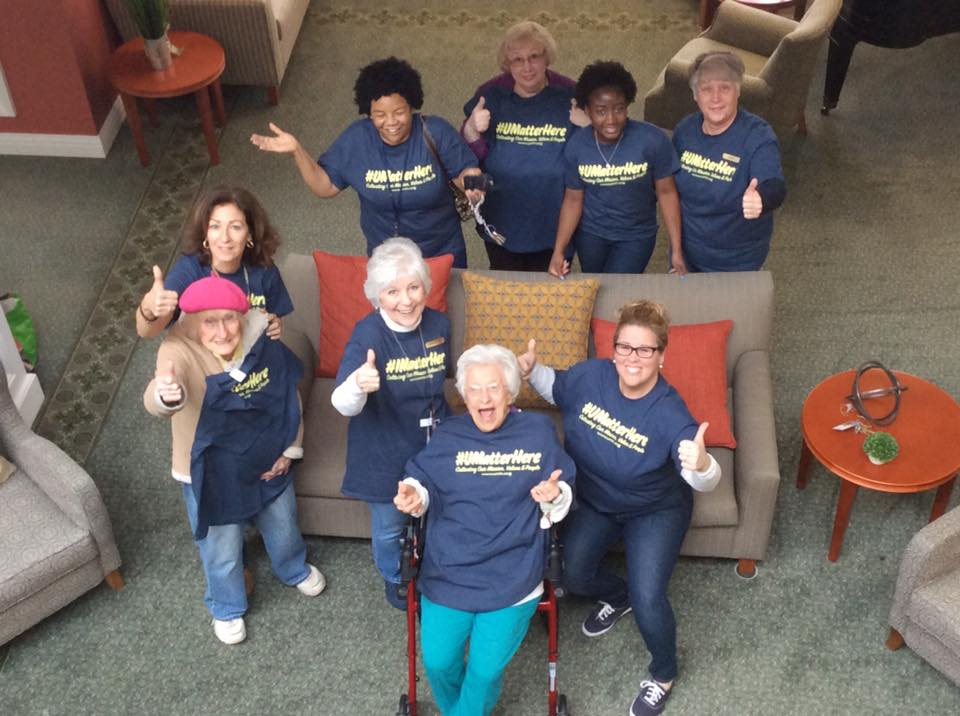 Crosby Commons Staff Members with Residents