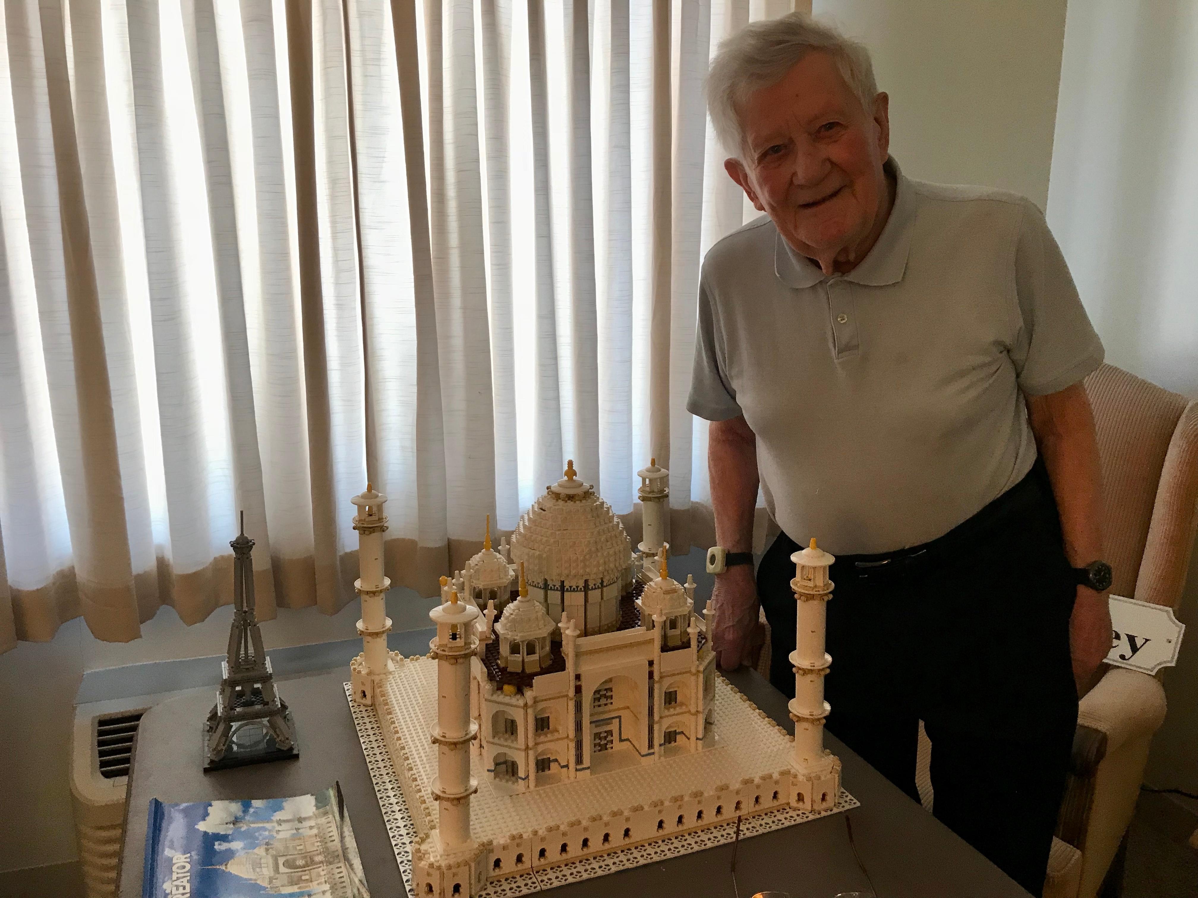 Don Walkley completes 6,000 piece LEGO set