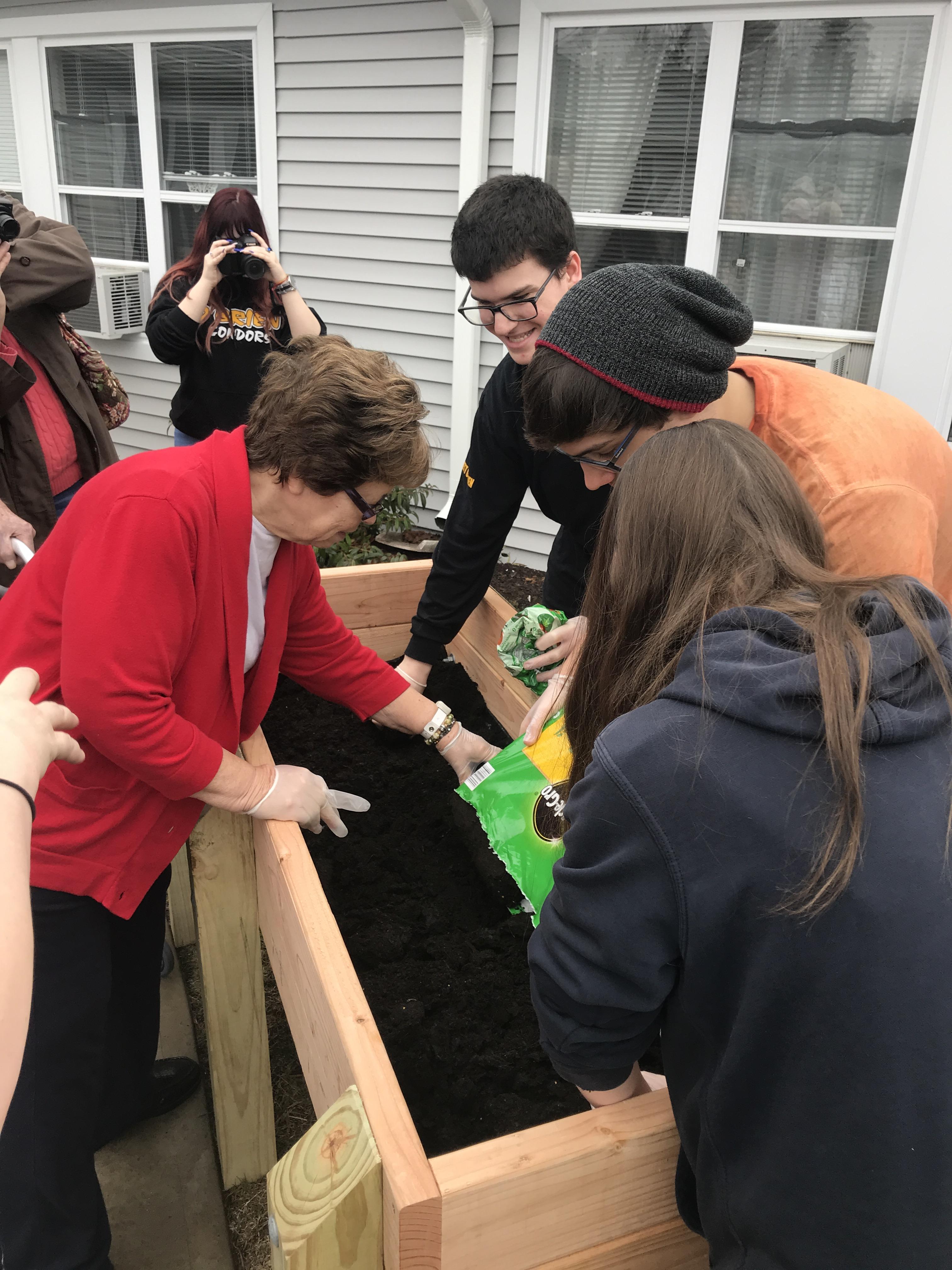 Emmett O'Brien Tech Students Donate to Wesley Village