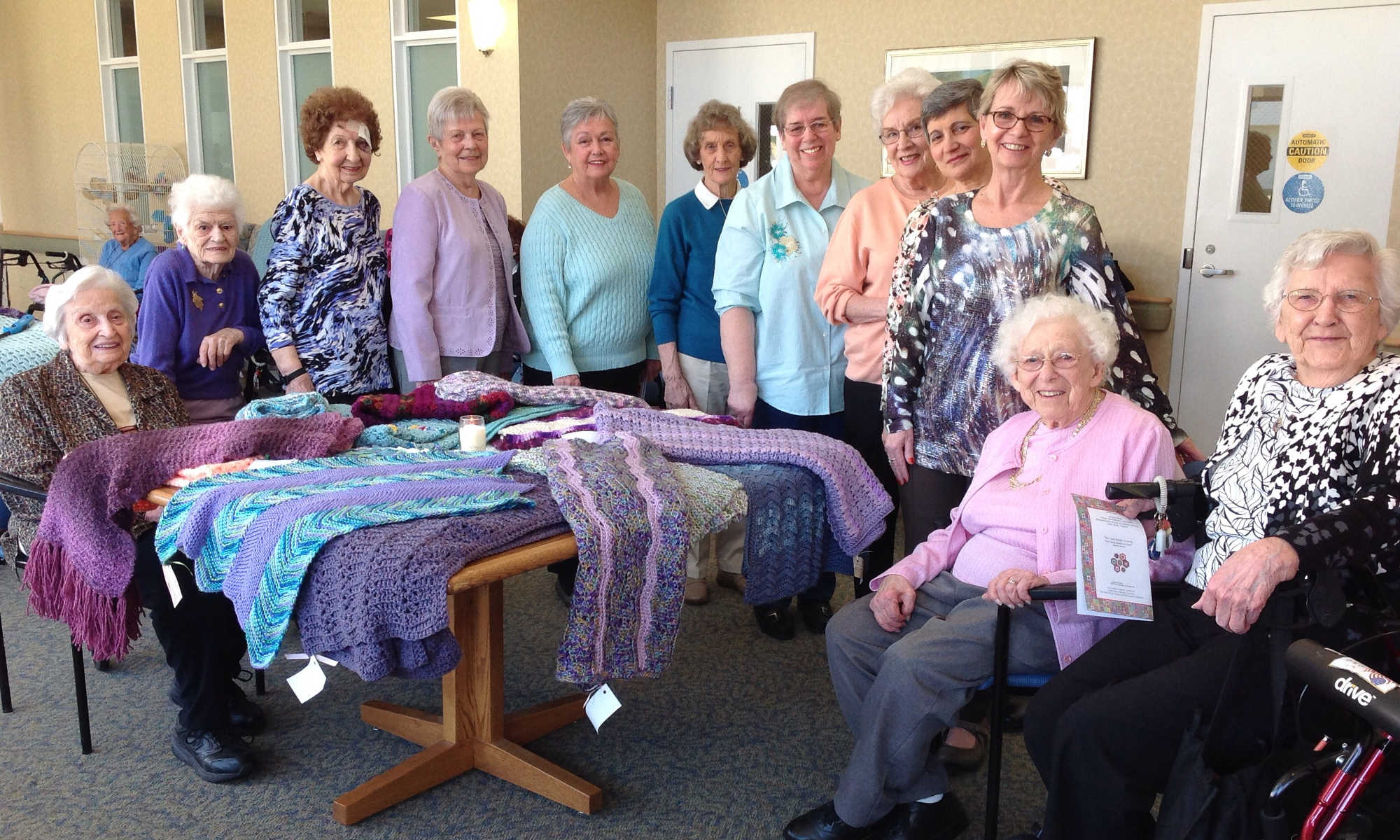 Wesley Village donates prayer shawls