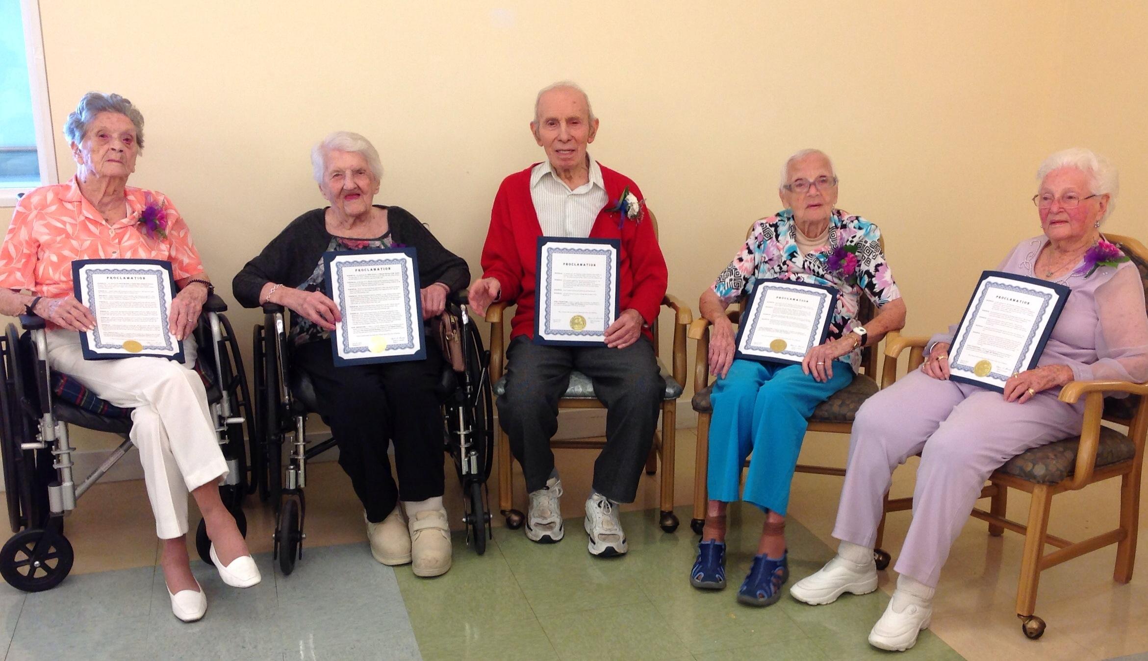 Wesley Village Celebrates Centenarians