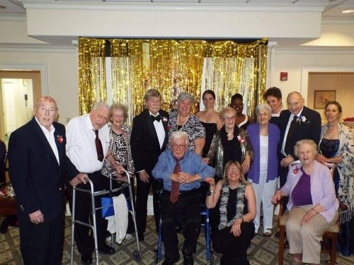 Middlewoods residenets have a ball at the senior prom