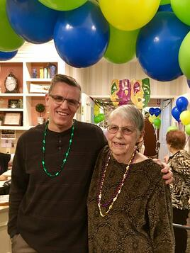 Shirlee and her son at Middlewoods of Newington's Anniversary Party