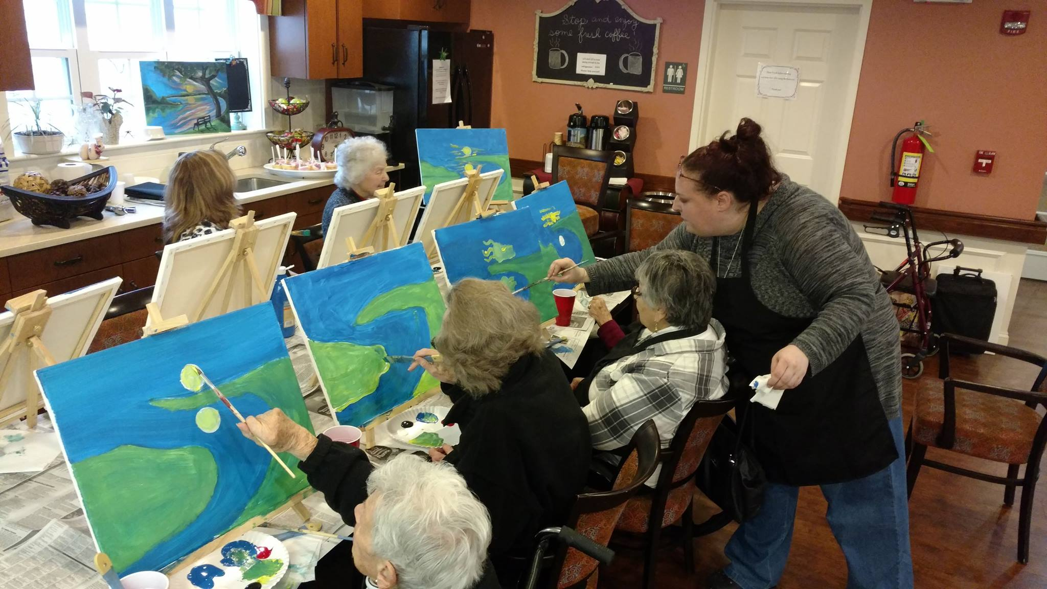 Painting Class at Middlewoods of Newington