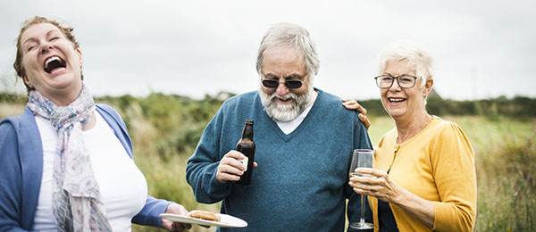 Community Enables Seniors to Thrive - Seniors enjoying a social gathering