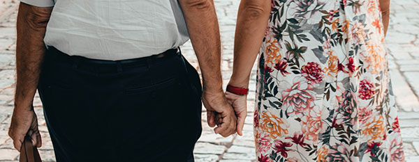 Relationships & Aging Well Human Connection Seniors Holding hands
