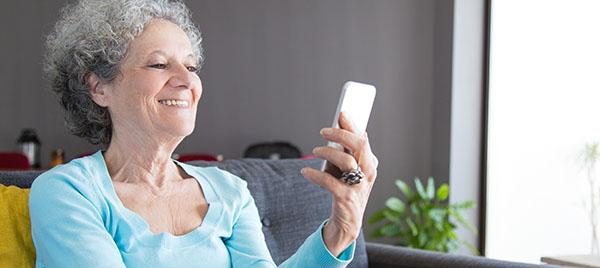 Female Senior Enjoying a Video Chat