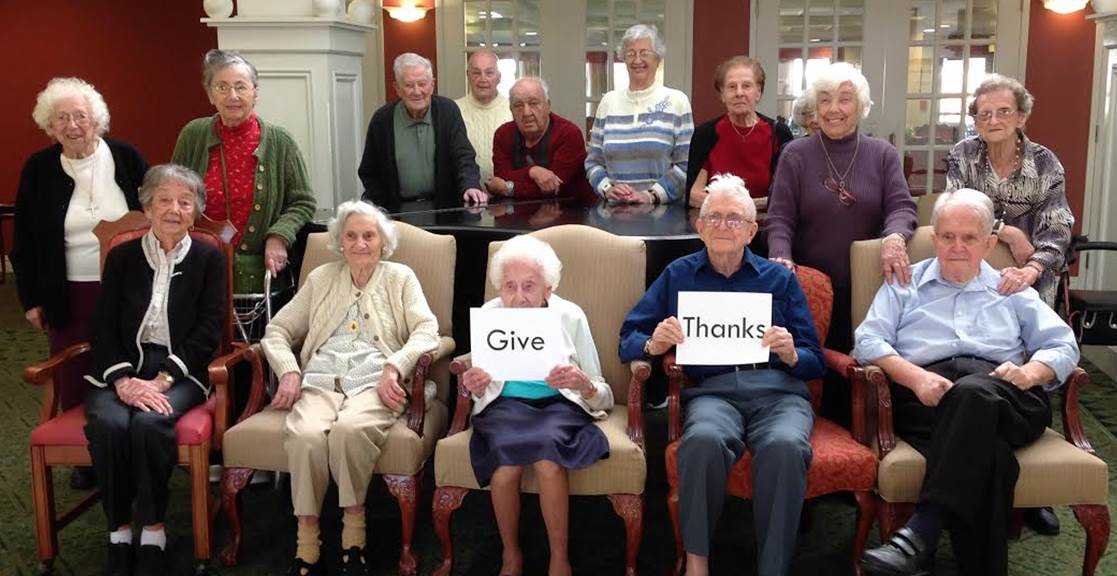 Our Residents Give Thanks
